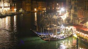 Μεγάλο κανάλι στη Βενετία απόθεμα βίντεο