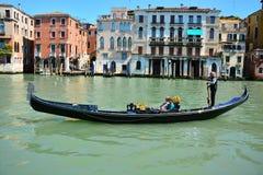 Μεγάλο κανάλι στη Βενετία Στοκ εικόνα με δικαίωμα ελεύθερης χρήσης