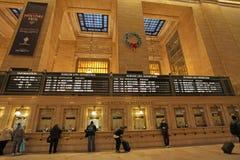 Μεγάλο κεντρικό εσωτερικό σιδηροδρομικών σταθμών, Νέα Υόρκη, ΗΠΑ Στοκ Εικόνα