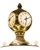 Μεγάλο κεντρικό ρολόι ορείχαλκου σταθμών της Νέας Υόρκης Στοκ Εικόνα