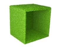 Μεγάλο κιβώτιο που αναστρέφεται στον πλευρικό κάλυψ μια πράσινη χλόη απεικόνιση αποθεμάτων