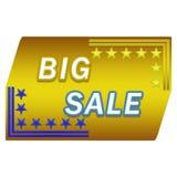 Μεγάλο κουμπί πώλησης Στοκ φωτογραφίες με δικαίωμα ελεύθερης χρήσης