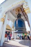 Μεγάλο κουδούνι σε Wat Kanlayanamit Στοκ Φωτογραφίες