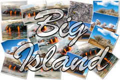 Μεγάλο κολάζ της Χαβάης νησιών Στοκ φωτογραφία με δικαίωμα ελεύθερης χρήσης