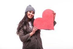 μεγάλο κόκκινο καρδιών κ&omi Στοκ φωτογραφία με δικαίωμα ελεύθερης χρήσης