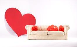 μεγάλο κόκκινο καρδιών συνδεδεμένο διάνυσμα βαλεντίνων απεικόνισης s δύο καρδιών ημέρας Στοκ φωτογραφίες με δικαίωμα ελεύθερης χρήσης
