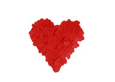μεγάλο κόκκινο καρδιών Στοκ Εικόνες