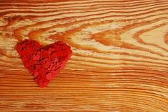 μεγάλο κόκκινο καρδιών Στοκ Εικόνα
