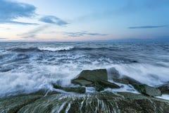 Μεγάλο κύμα θύελλας Στοκ Φωτογραφία