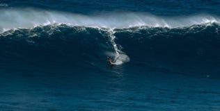 Μεγάλο κύμα στα σαγόνια Maui Χαβάη Στοκ φωτογραφία με δικαίωμα ελεύθερης χρήσης