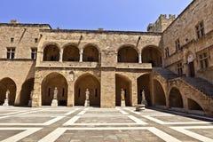 Μεγάλο κύριο παλάτι στη Ρόδο, Ελλάδα Στοκ Εικόνες