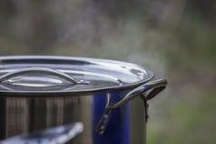 Μεγάλο μαγειρεύοντας δοχείο στοκ φωτογραφίες με δικαίωμα ελεύθερης χρήσης