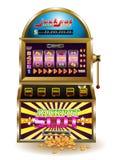 Μεγάλο μηχάνημα τυχερών παιχνιδιών με κέρματα τζακ ποτ Στοκ Εικόνες