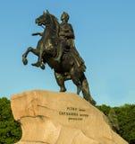 μεγάλο μνημείο Peter ρωσικά αυτοκρατόρων Στοκ εικόνα με δικαίωμα ελεύθερης χρήσης