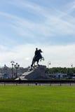 μεγάλο μνημείο Peter ρωσικά αυτοκρατόρων Στοκ εικόνες με δικαίωμα ελεύθερης χρήσης