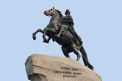 μεγάλο μνημείο Peter ρωσικά αυτοκρατόρων Στοκ φωτογραφία με δικαίωμα ελεύθερης χρήσης