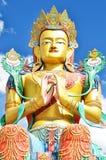Μεγάλο μοναστήρι Βούδας-Diskit συνεδρίασης, Ladakh, Ινδία Στοκ φωτογραφία με δικαίωμα ελεύθερης χρήσης