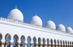 Μεγάλο μουσουλμανικό τέμενος - Αμπού Ντάμπι Στοκ εικόνα με δικαίωμα ελεύθερης χρήσης