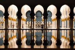 Μεγάλο μουσουλμανικό τέμενος του Αμπού Ντάμπι Στοκ εικόνα με δικαίωμα ελεύθερης χρήσης