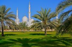 μεγάλο μουσουλμανικό τέμενος του Αμπού Νταμπί Στοκ Εικόνες
