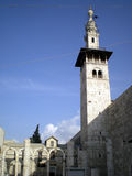μεγάλο μουσουλμανικό τέμενος omayyad Συρία της Δαμασκού Στοκ Εικόνες