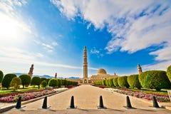 Μεγάλο μουσουλμανικό τέμενος Qaboos σουλτάνων Στοκ φωτογραφία με δικαίωμα ελεύθερης χρήσης
