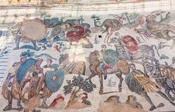 Μεγάλο μωσαϊκό κυνηγιού Villa Romana del Casale Στοκ Εικόνα