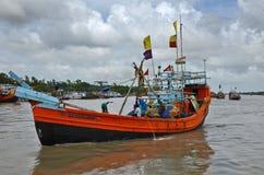 Μεγάλο ξύλινο αλιευτικό πλοιάριο Στοκ φωτογραφία με δικαίωμα ελεύθερης χρήσης