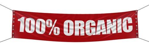 Μεγάλο ` 100% οργανικό έμβλημα ` με τη σύσταση επιφάνειας υφάσματος Στοκ φωτογραφίες με δικαίωμα ελεύθερης χρήσης