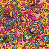 Μεγάλο λουλουδιών άνευ ραφής σχέδιο λουλουδιών φίλων μικρό Στοκ εικόνες με δικαίωμα ελεύθερης χρήσης