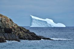Μεγάλο παγόβουνο στην ακτή Στοκ Εικόνες