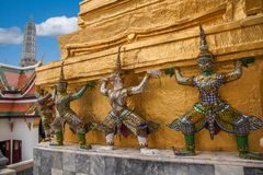 μεγάλο παλάτι Ταϊλάνδη της Μπανγκόκ Στοκ Φωτογραφία