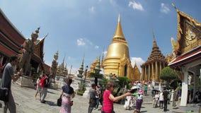 Μεγάλο παλάτι της Μπανγκόκ 4K απόθεμα βίντεο