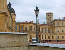 μεγάλο παλάτι gatchina στοκ εικόνες