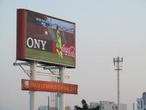 Μεγάλο ποδόσφαιρο οθόνης Στοκ εικόνα με δικαίωμα ελεύθερης χρήσης