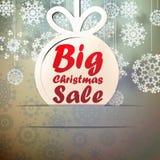 Μεγάλο πρότυπο πώλησης Χριστουγέννων με το διάστημα αντιγράφων. Στοκ Εικόνες