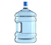 Μεγάλο πλαστικό βαρέλι, μπουκάλι με μια λαβή για το δοχείο ψύξης νερού γραφείων Στοκ Εικόνες