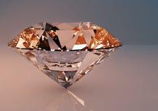 Μεγάλο σαφές κόσμημα διαμαντιών πολυτέλειας Στοκ Εικόνες