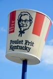Μεγάλο σημάδι βαρελιών εστιατορίων της KFC Στοκ Φωτογραφία