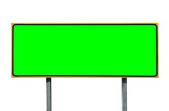 Μεγάλο σημάδι εθνικών οδών που απομονώνεται στο λευκό με το πράσινο ένθετο χρώματος Στοκ Φωτογραφίες
