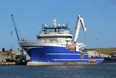 Μεγάλο σκάφος στην εκβολή νότιου Esk, Montrose, Angus Στοκ εικόνες με δικαίωμα ελεύθερης χρήσης