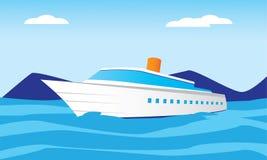 Μεγάλο σκάφος στη θάλασσα Στοκ εικόνες με δικαίωμα ελεύθερης χρήσης