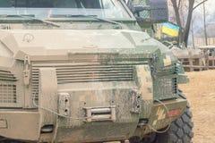 Μεγάλο στρατιωτικό αυτοκίνητο στην έκθεση Στοκ φωτογραφία με δικαίωμα ελεύθερης χρήσης