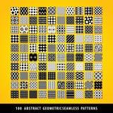 Μεγάλο σύνολο αφηρημένων γεωμετρικών άνευ ραφής σχεδίων Στοκ Εικόνες