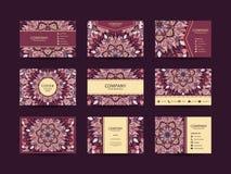 Μεγάλο σύνολο επαγγελματικών καρτών Στοκ εικόνες με δικαίωμα ελεύθερης χρήσης