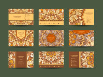 Μεγάλο σύνολο επαγγελματικών καρτών Στοκ φωτογραφίες με δικαίωμα ελεύθερης χρήσης