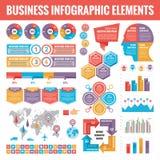 Μεγάλο σύνολο επιχειρησιακών infographic στοιχείων για την παρουσίαση, το φυλλάδιο, τον ιστοχώρο και άλλα προγράμματα Αφηρημένα π ελεύθερη απεικόνιση δικαιώματος