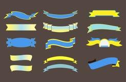Μεγάλο σύνολο κορδελλών, απομονωμένη διανυσματική απεικόνιση Στοκ Εικόνα