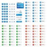 Μεγάλο σύνολο κουμπιού υπηρεσιών Στοκ Εικόνα