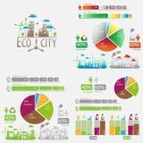 Μεγάλο σύνολο οικολογίας infographics Στοκ Φωτογραφία